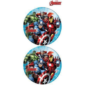 Mighty Avengers Paper Plates - mypartymonsterstore