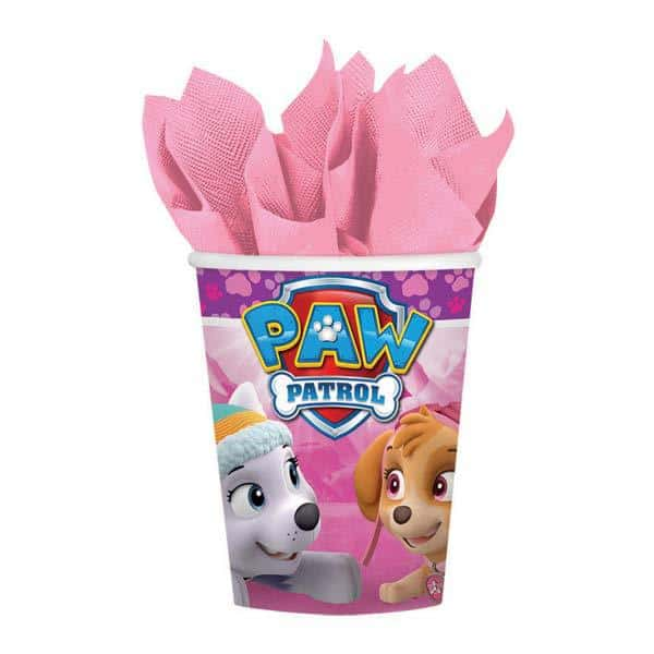 Pink Paw Patrol Party Cups 8pk