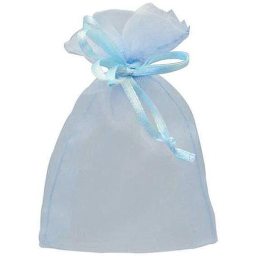 Baby Blue Organza Favour Bags x10