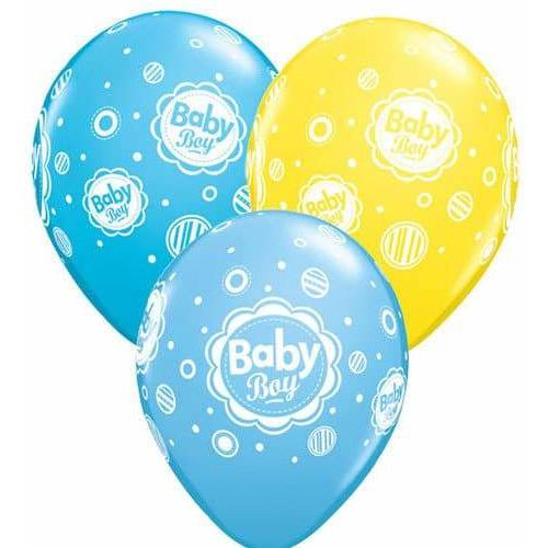 Baby Boy Dots Latex Balloons 6ct