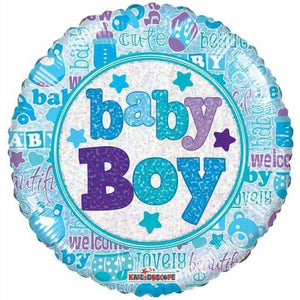Baby Boy Holographic Foil Balloon