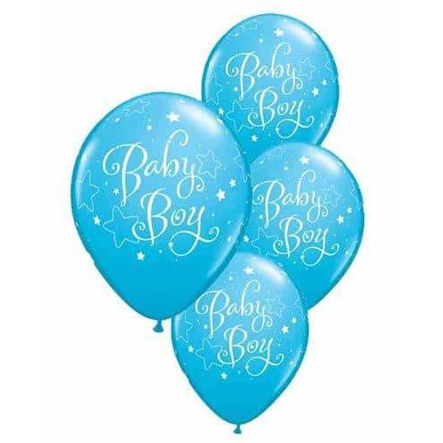 Baby Boy Stars Latex Balloons 6ct