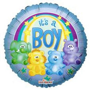Baby Boy Zoo Foil Balloon