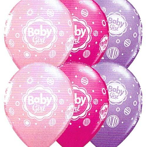 Baby Girl Dots Latex Balloons x25