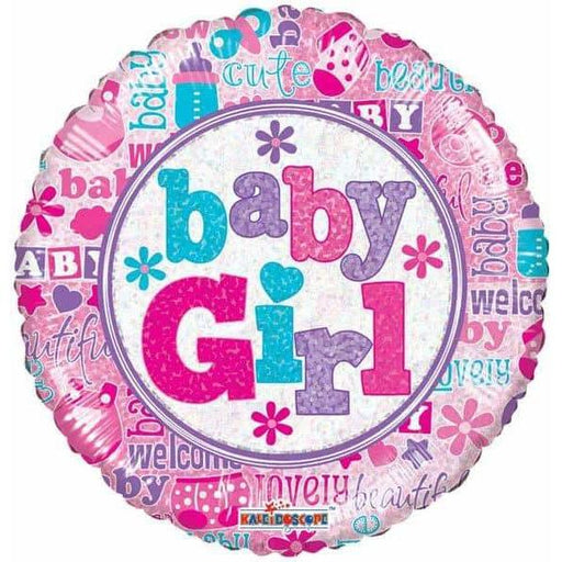 Baby Girl Holographic Foil Balloon