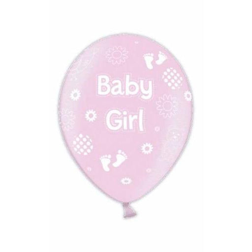 Baby Girl Pink Latex Balloons x25