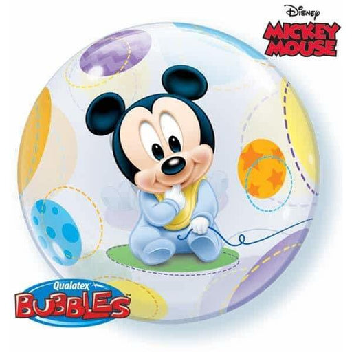 Baby Mickey Single Bubble Balloon
