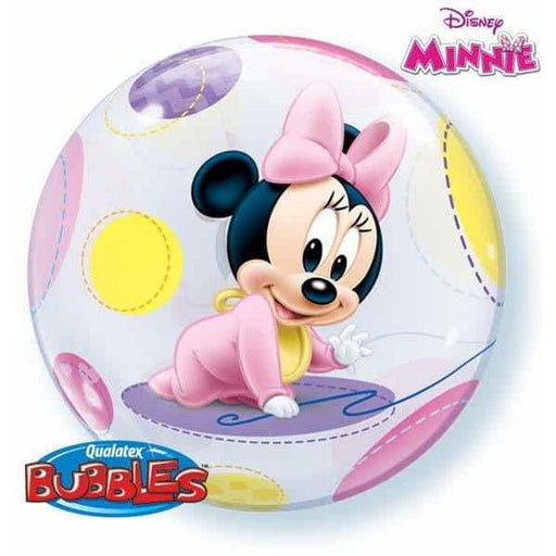 Baby Minnie Single Bubble Balloon