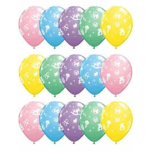 Baby Nursery Assorted Latex Balloons x25