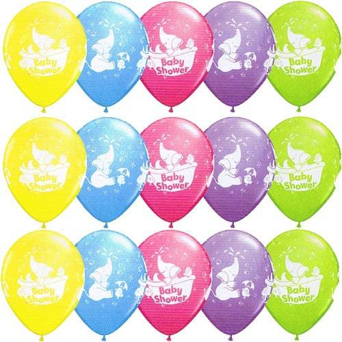 Baby Shower Elephant Latex Balloons x25