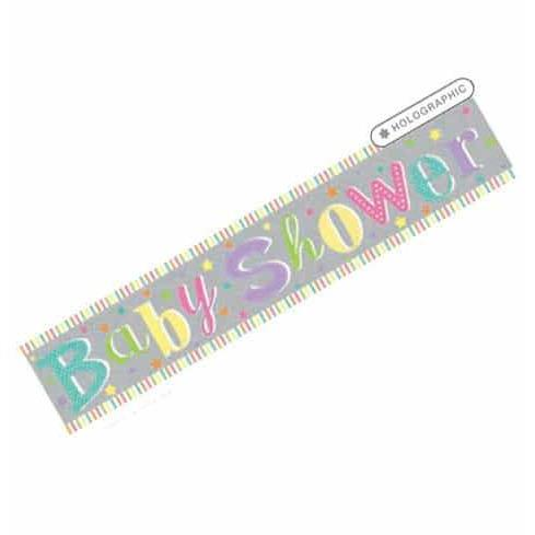 Baby Shower Extra Wide Holographic Banner