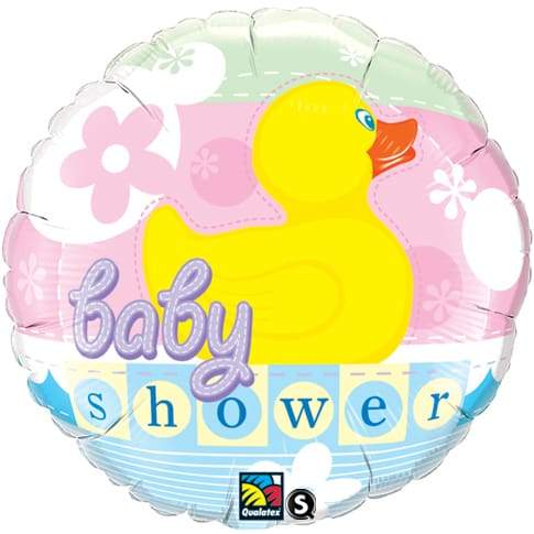 Baby Shower Rubber Duckie Foil Balloon