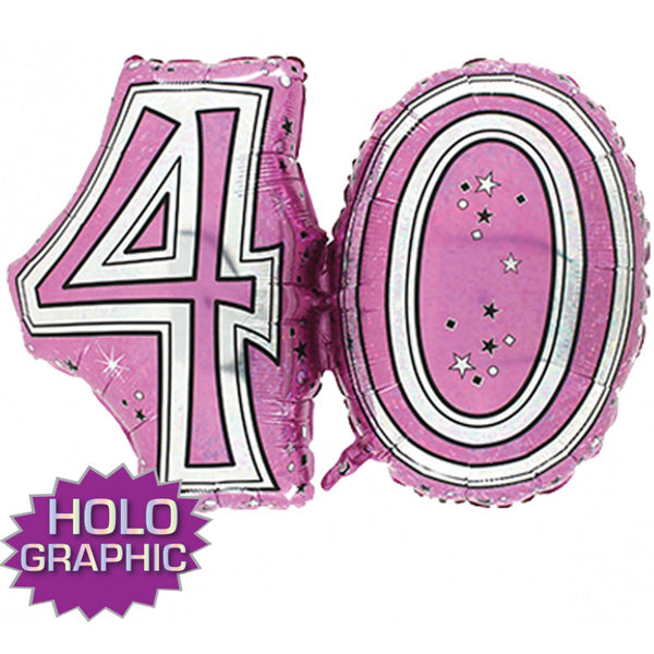 Pink 40 Jointed Number Shape Balloons