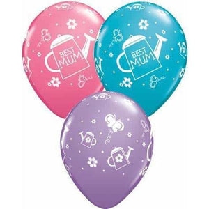 Best Mum Watering Can Latex Balloons 25ct