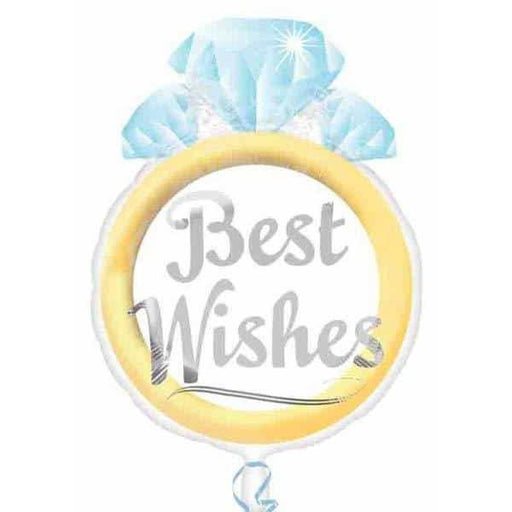 Best Wishes Ring Junior Shape Foil Balloon