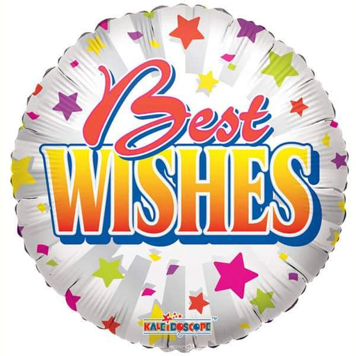 Best Wishes Stars Foil Balloon