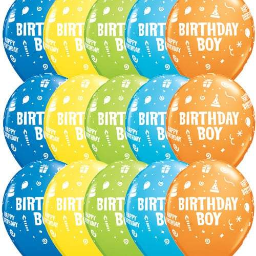 Birthday Boy Latex Balloons x25