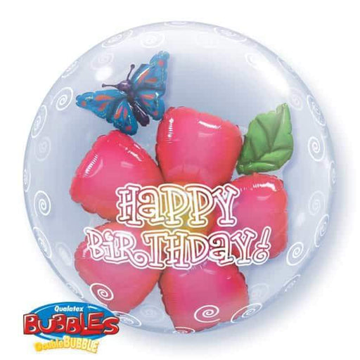 Birthday Flower Double Bubble Balloon