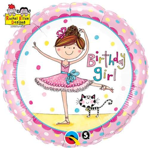 Birthday Girl Ballerina Foil Balloon