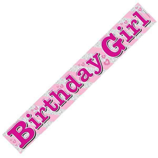 Birthday Girl Holographic Banners