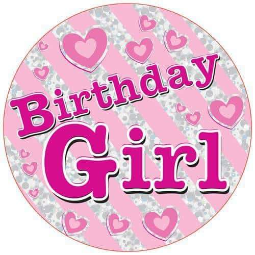 Birthday Girl Party Badge
