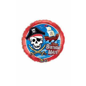 Birthday Pirate Ship Foil Balloon
