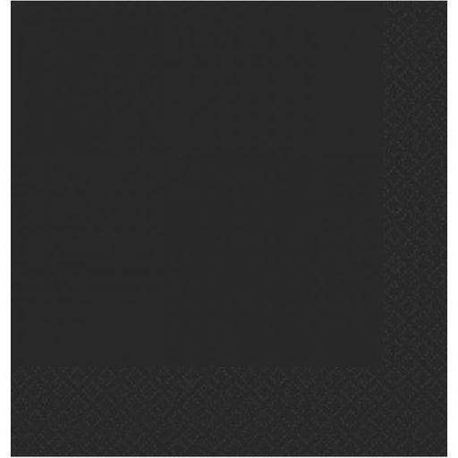 Black 2ply Dinner Napkins 20pk