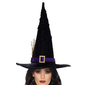 Black And Purple Witch Hat