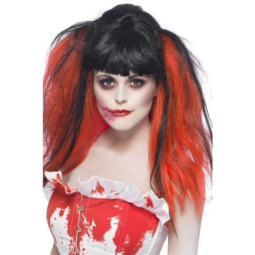 Black and Red Blood Wig