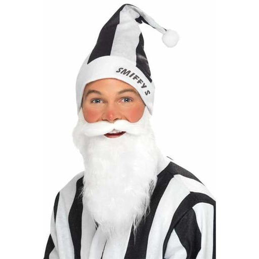 Black And White Striped Sports Santa Set