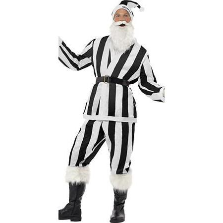 Black And White Striped Sports Santa Suit