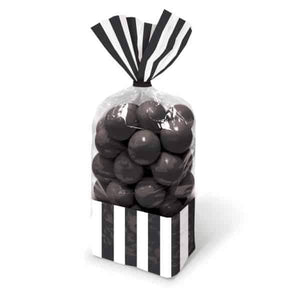 Black Candy Striped Party Bags 10pk