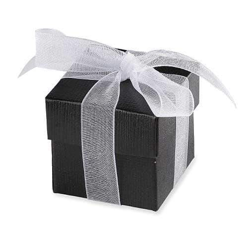 Black Favour Box And Lid x10