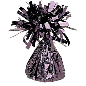 Black Fringed Foil Balloon Weights