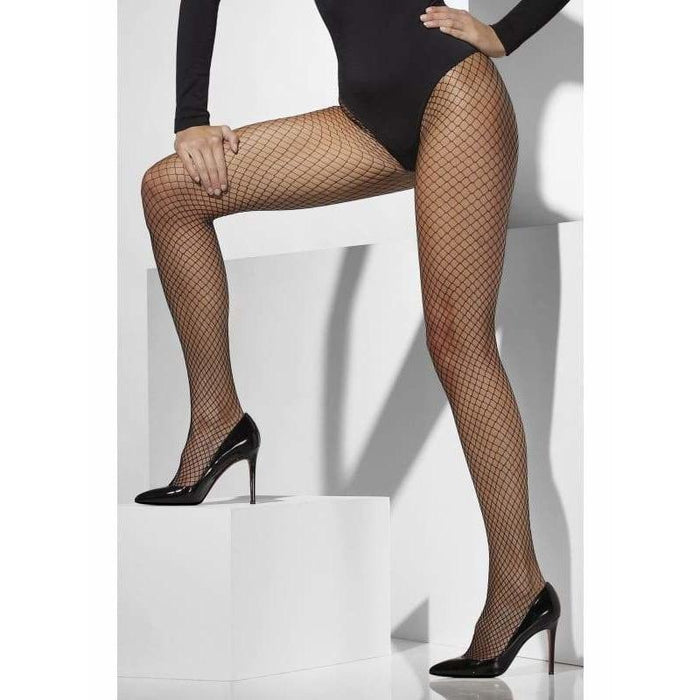 Black Lattice Net Tights