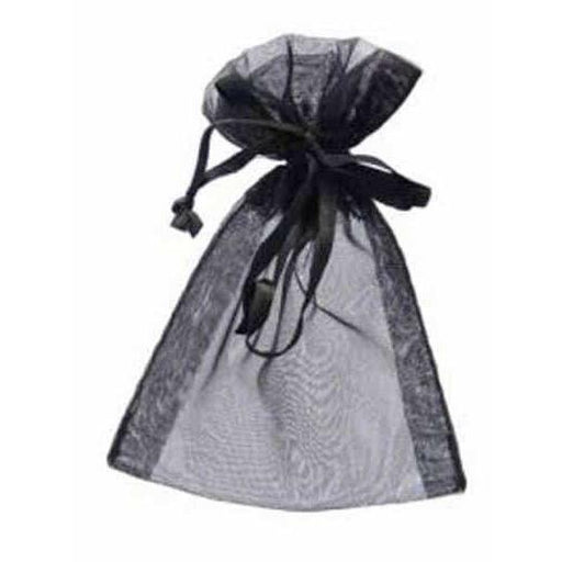 Black Organza Favour Bags x10