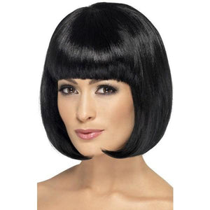 Black Partyrama Lady Wigs With Fringe