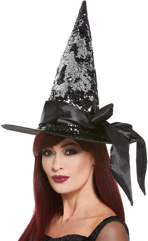 Black Sequin Witch Hat