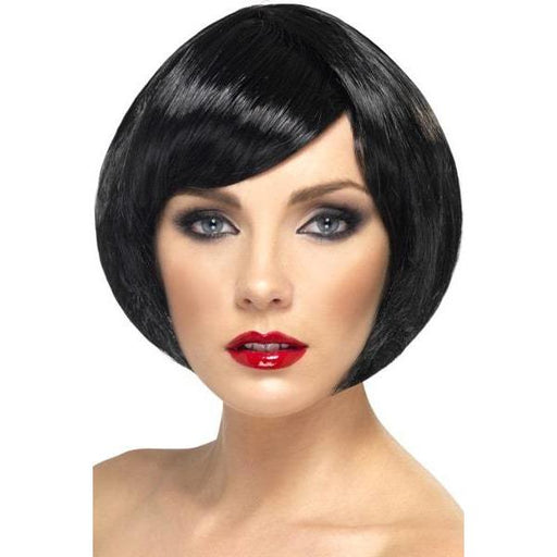 Black Short Female Babe Bob Wigs With Fringe