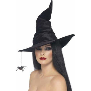 Black Witches Hat With Spider