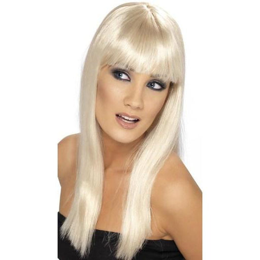 Blonde Long Straight Wigs With Fringe