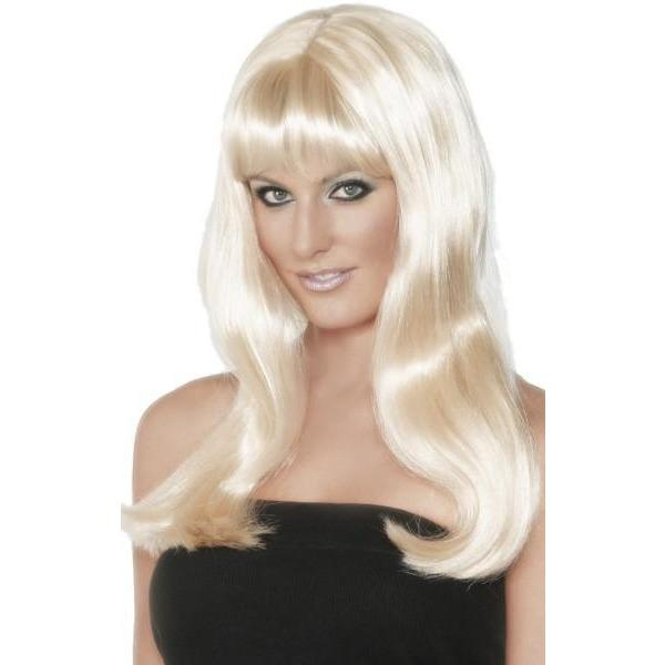 Blonde Mystique Lady Wigs With Fringe