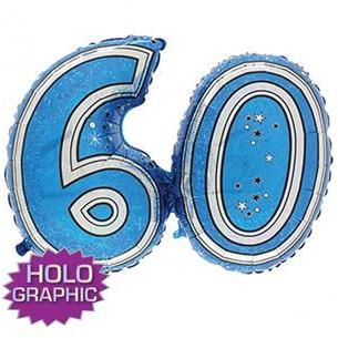 Blue 60 Jointed Number Shape Balloons