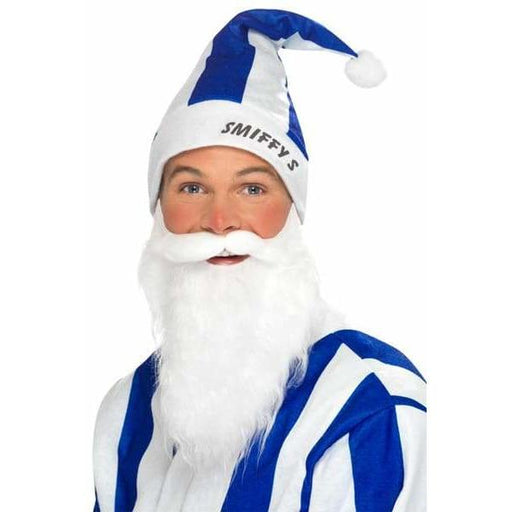 Blue And White Striped Sports Santa Set