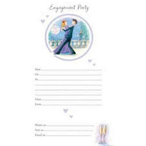 Blue Engagement Party Invitations