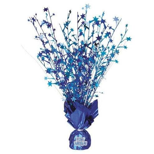 Blue Foil Balloon Weight Centrepiece
