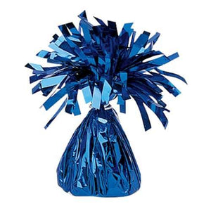 Blue Fringed Foil Balloon Weights