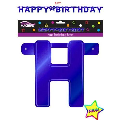 Blue Happy Birthday Letter Banners