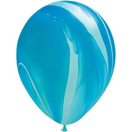 Blue Rainbow Superagate Latex Balloons x25