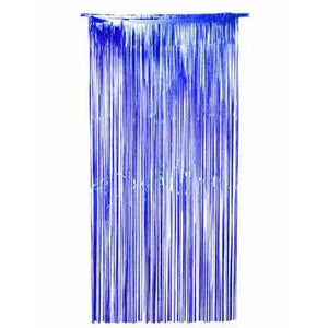 Blue Shimmer Foil Door Curtain